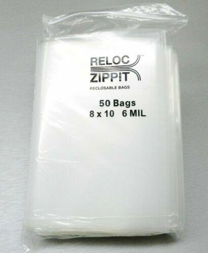 8x10 CLEAR 6MIL ZIP LOCK BAGS POLY PLASTIC RECLOSABLE SEAL MINI ZIPPER BAGGIES