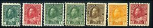 Canada #104/132 mint F/F-VF OG H/HR 1911-1925 King George V Admiral Part Set