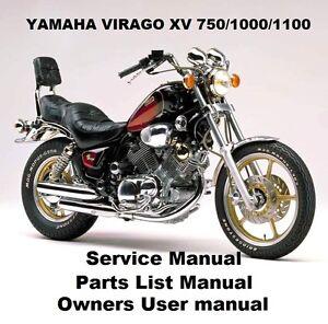 yamaha virago xv 750 1100 owners workshop service repair parts rh ebay com au yamaha virago 1100 service manual 1996 yamaha virago 1100 service manual pdf