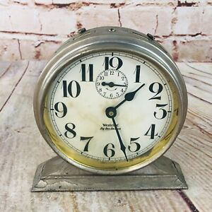 Vtg Westclox Chrome Big  Ben De Luxe Clock w time & alarm feature steampunk