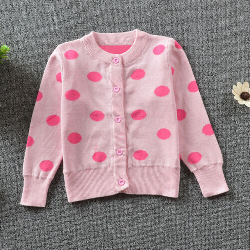 Kids Toddler Baby Girl Long Sleeve Warm Sweaters Knitted Coat Cardigan Outerwear