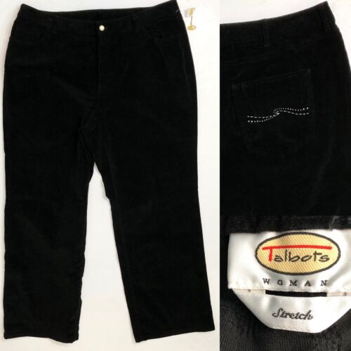 18w Velveteen Jeans Talbots Taille Orn Femme 0aqwExH