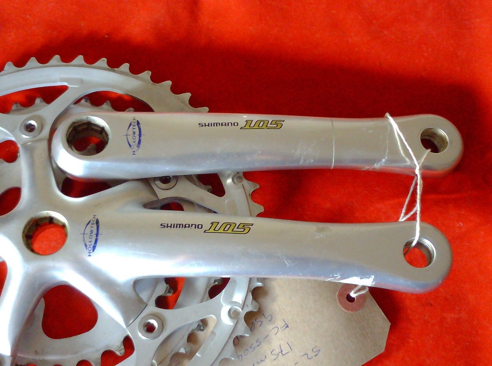 SHIMANO 105  FC-5504  52 42 30 TRIPLE  CHAINSET, 130BCD, 9 SPEED