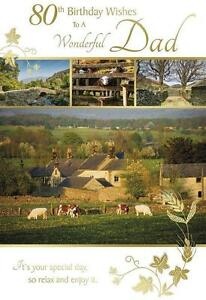 Image Is Loading 80th Birthday Wishes To A Wonderful Dad Countryside