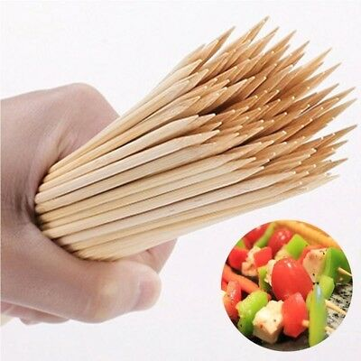 "Attent 300 Bamboo Wooden Skewers Sticks Bbq Fruit Kebab Fountain 30 Cm / ""12"""