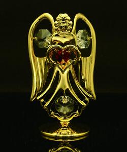 SWAROVSKI-CRYSTAL-ELEMENT-JULY-BIRTHSTONE-RUBY-ANGEL-24K-GOLD-PLATED