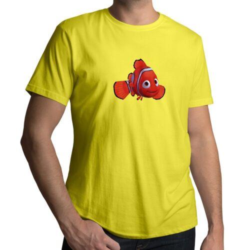 Finding Nemo Orange Clownfish Disney Pixar Dory Fish Mens Unisex Top Tee T-Shirt