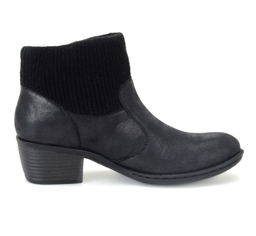 NEW BORN B.O.C BENDELL BLACK ANKLE BOOTS WOMENS 10 Z26704 ZIP SIDE BOOTIES