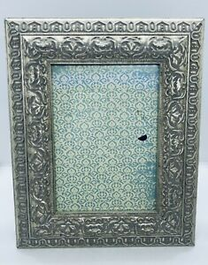 Antique (c.1910) Art Nouveau Silvered Picture Frame