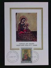 VATICAN MK 1971 MADONNA & JESUS CHRISTUS MAXIMUMKARTE MAXIMUM CARD MC CM c6303