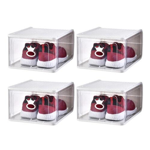 4//5pcs Detachable Shoes Boxes Thicken Stackable Plastic Shoes Storage Organizer