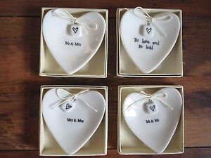 Heart dish keepsake boxed gift wedding christening anniversary new baby success