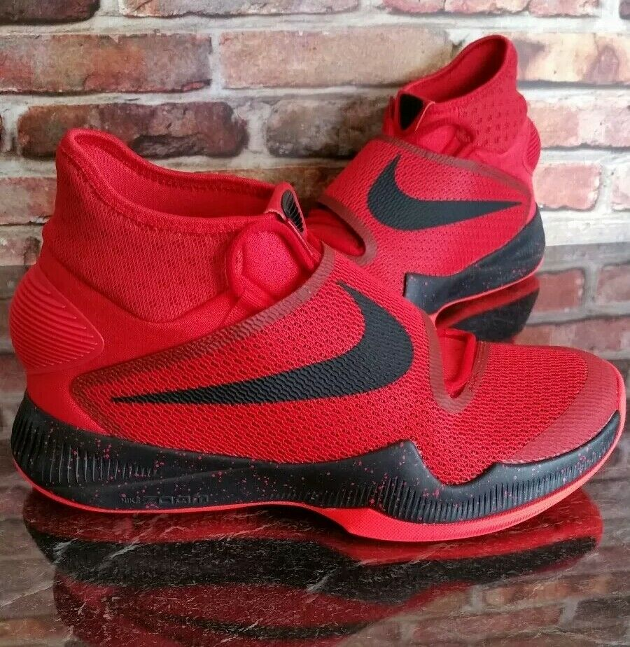 Nike zoom shoes size 10 mens  red ,black basketball, running, athletic, sports