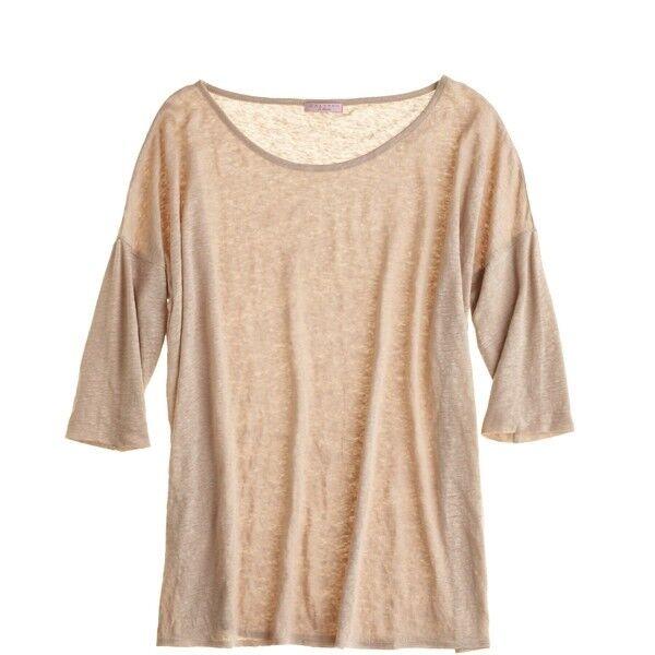 Neu Calypso St.Barth Naomi T-Shirt Leinen Beige Natur Natur Natur Top U-Stiefel-Ausschnitt | Schnelle Lieferung  | Speichern  | Preisreduktion  | Billiger als der Preis  | Großartig  25aa81