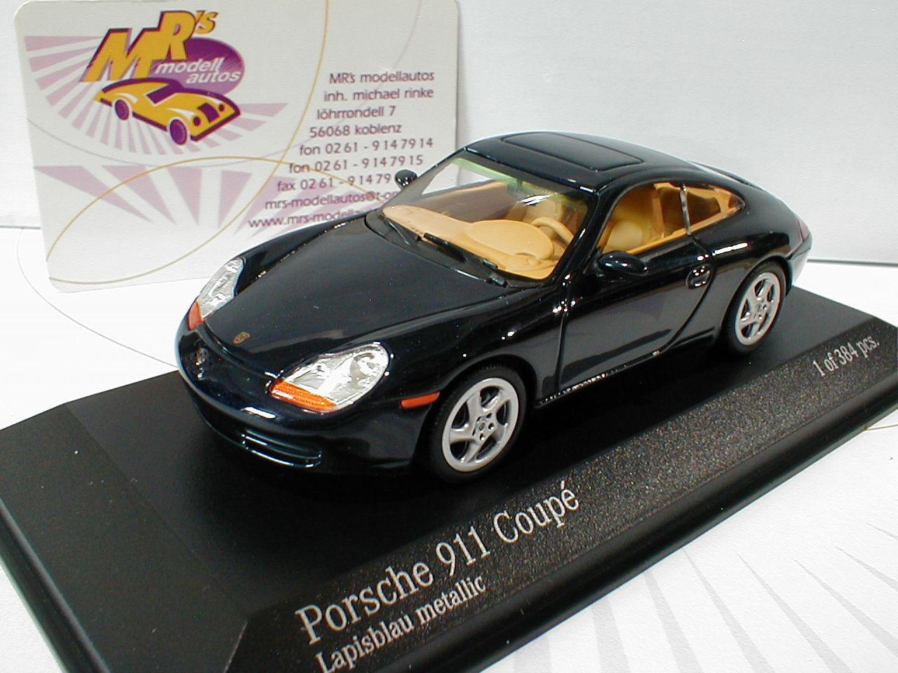 Minichamps 400061180 Porsche 911 Coupe Baujahr 1998 in   blue-metall.   1 43