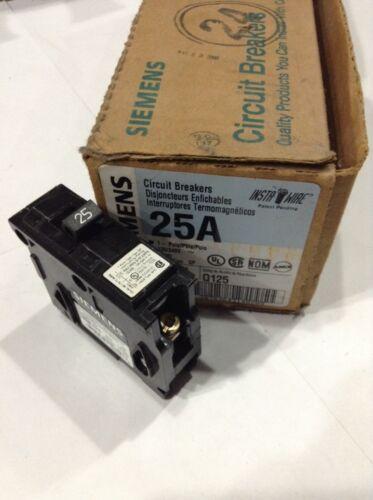 Box Of 12 New Q125 Siemens Circuit Breaker 1 Pole 25 Amp 120//240V