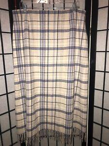 Image Is Loading PENDLETON Virgin Wool Plaid Fringe Skirt 16