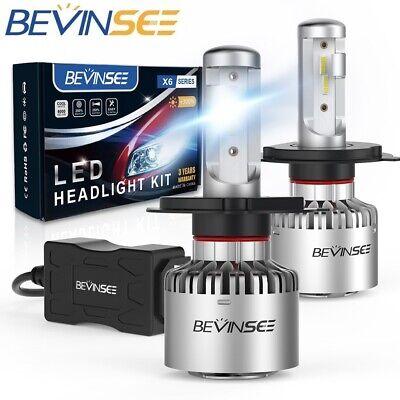 Bevinsee H4 9003 LED Headlight White Bulbs Kit,2pcs