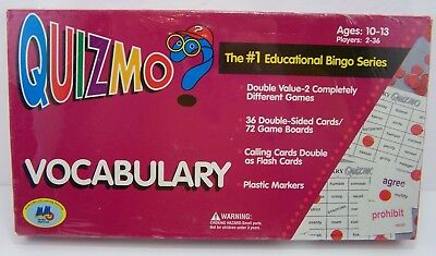 Other Alphabet & Language Toys Open-Minded Quizmo Vocabulary Educational Bingo Game Learning Advantage Ages 10-13 Clearance Price Educational