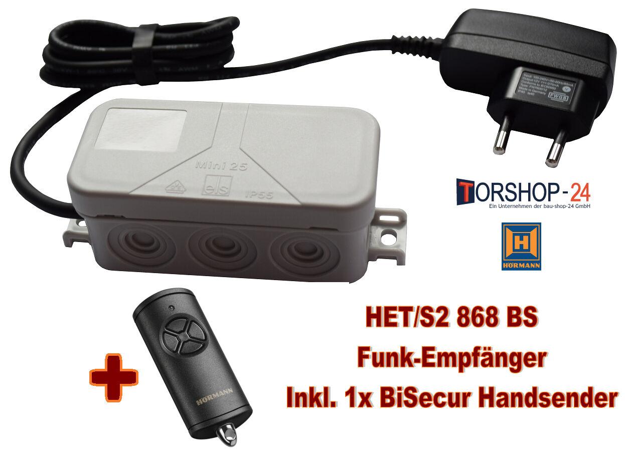 Hörmann Funkempfänger Set HET S 2 BiSecur + Handsender HSE4 BiSecur Universal