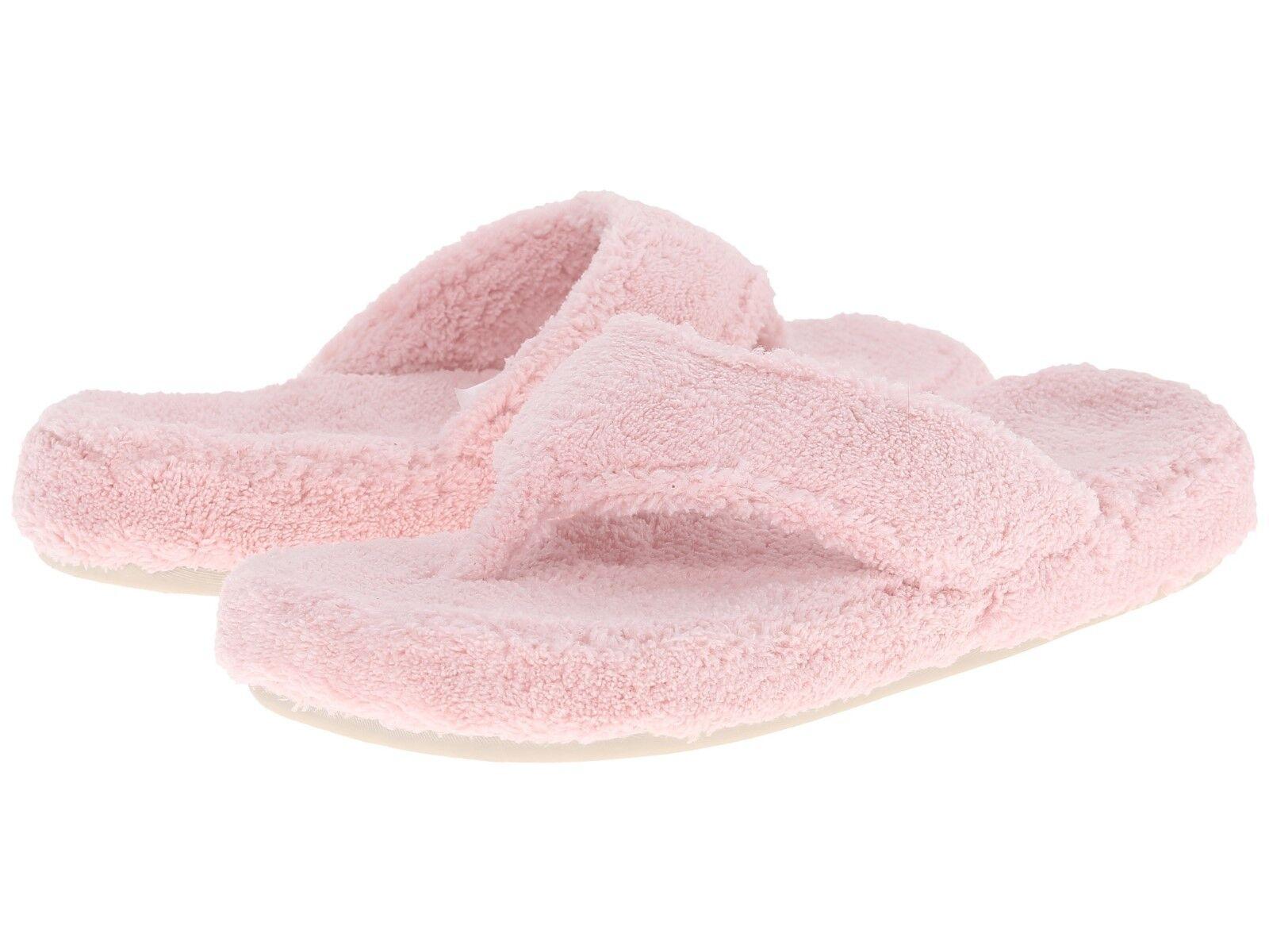 New With Tags Acorn Spa Thong Slipper Pink Medium (M, B )