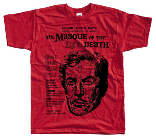 ALL SIZES S-5XL T-Shirt WHITE BLACK movie poster The masque of the red death