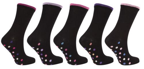 Cottonique Ladies Cotton Rich Socks Black 4-8