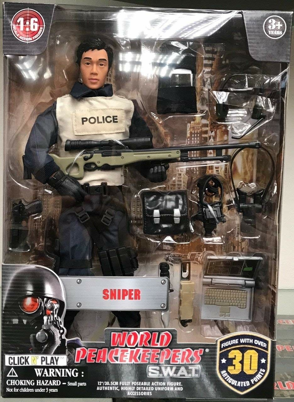 12  Police Force Sniper Action Figure 1 6 Play Play Play Set Kids Toy with Accessories f84a16