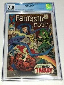 Fantastic-Four-65-CGC-7-0-FN-VF-Marvel-1967-1st-Ronan-the-Accuser