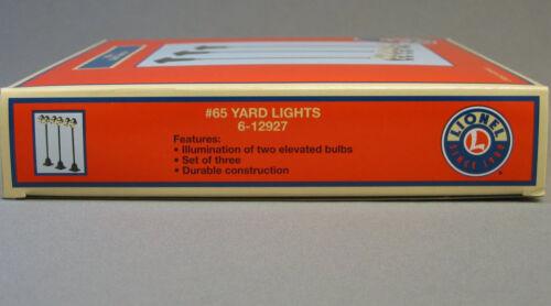 LIONEL# 65 YARD LIGHTS 3 PK lighted train accessory lighting poles 6-12927 NEW