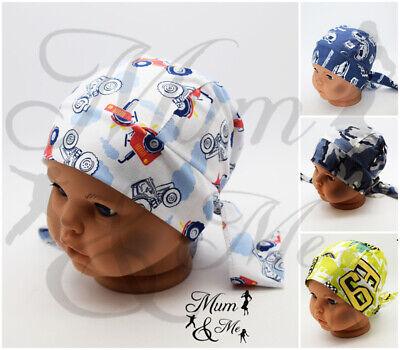 Little Girl Boy Reversible  Kerchief Summer Hat Bandana Headband Head scarf bib Garden Scarf Head Wrap