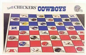 Checkers-1993-Game-NFL-Football-Dallas-Cowboys-New-York-Giants-Helmets-Vintage