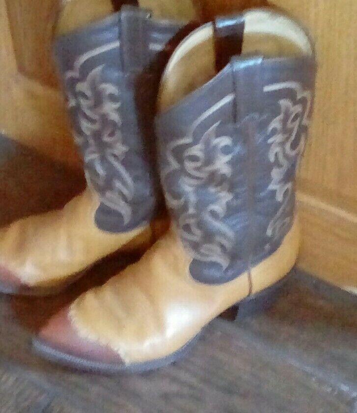 Männer Tony Lama Cowboy Stiefel, Stil 6243, Größe 9 1 2 E, Country Western, Leder