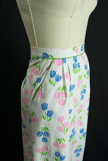 Vintage Tulip Print Skirt SweetNovelty Print Past… - image 5