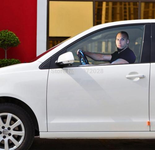 Car-styling Fast & Furious Paul Walker Vin Diesel Car Window Sticker Glass Acces | eBay
