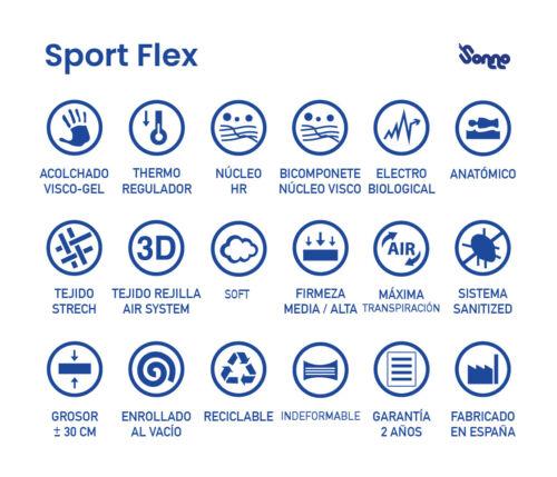 Height 30 cm Viscogel mattress HR sport flex sonnomattress