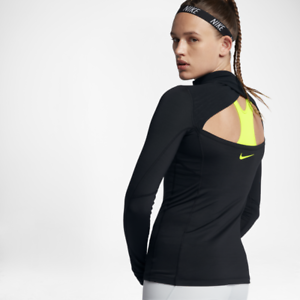 90ebadc163933 Nike Pro Hyperwarm Women s Half-Zip Long Sleeve Training Top S Black ...