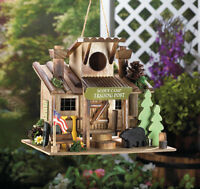 Boy Scout Cabin Trading Post Forest Camp Fairy Bird House Decorative Birdhouse