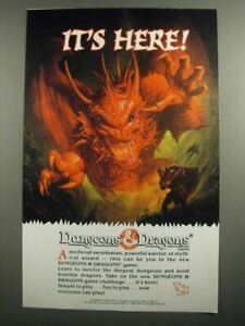1991 TSR Dungeons & Dragons Game Ad - It's here