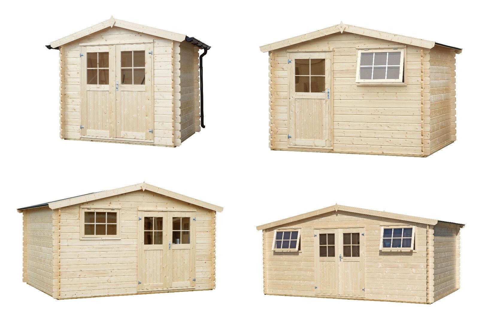 34 mm gartenhaus holzhaus holz ger tehaus schuppen blockhaus topangebot neu ebay. Black Bedroom Furniture Sets. Home Design Ideas
