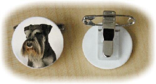 Miniature Schnauzer Bone China Ring Clip design No 2 by Starprint