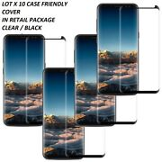 LOT 10 Tempered Glass Screen Protector Samsung S8/S9 PLUS Note 8/9 CASE FRIENDLY