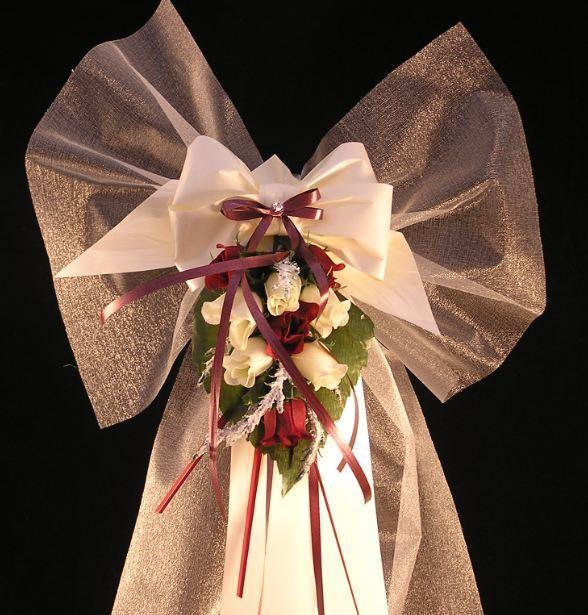 14 X Pew fin BOWS mariage PLAIN église venue Décorations Personnalisé PLAIN mariage