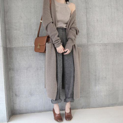 Women Sweater Knitted Coat Jacket Cardigan Outwear Long Jumper Loose Casual