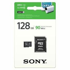 SONY 128GB microSDXC Memory Card with SD Adapter - UHS-I U1 - Class 10 - 90MB/s