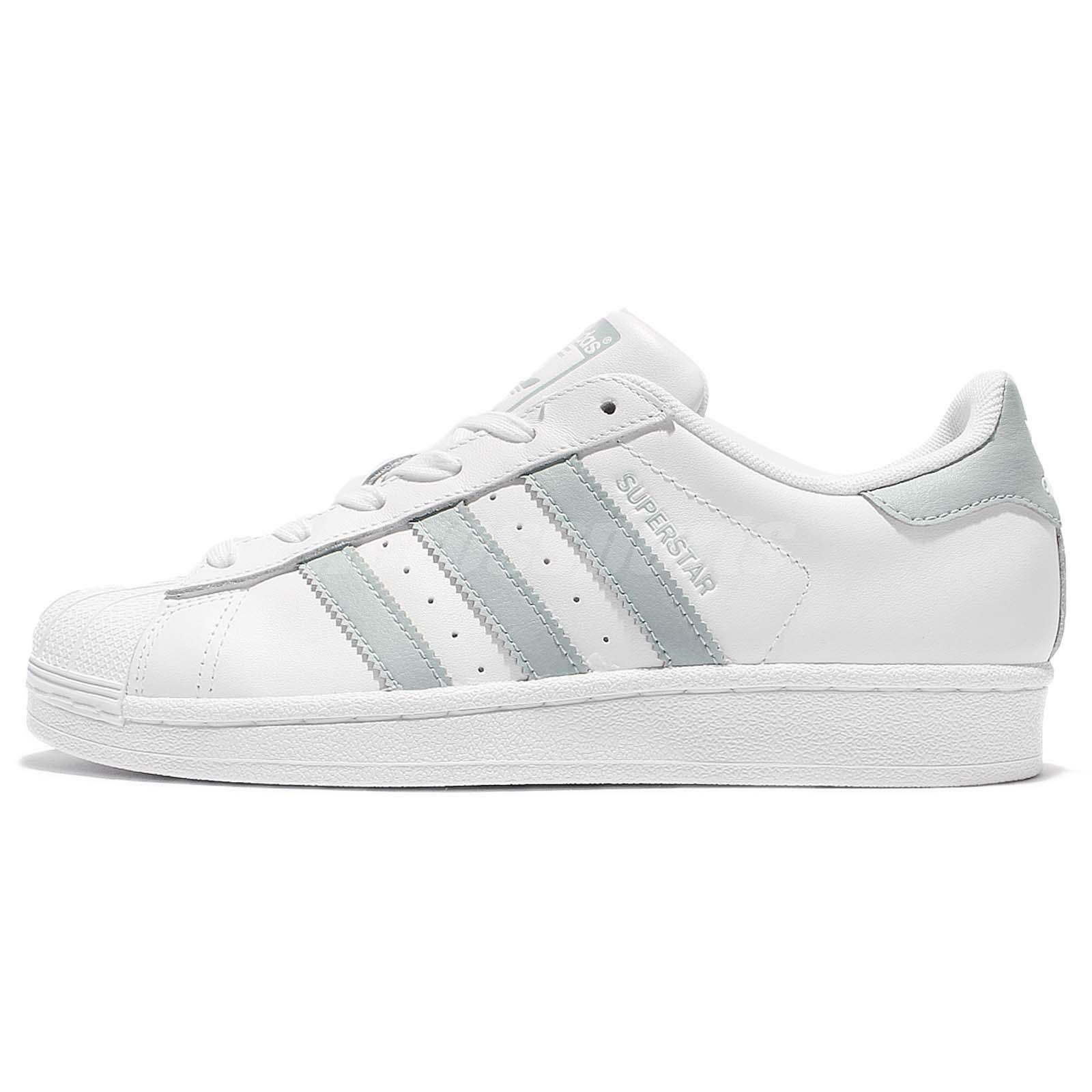 Adidas Superstar White Pastel Green White (WS) (CG2885)