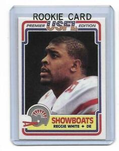 1984-Topps-USFL-48-REGGIE-WHITE-ROOKIE-RC-REPRINT-Memphis-Showboats-Look