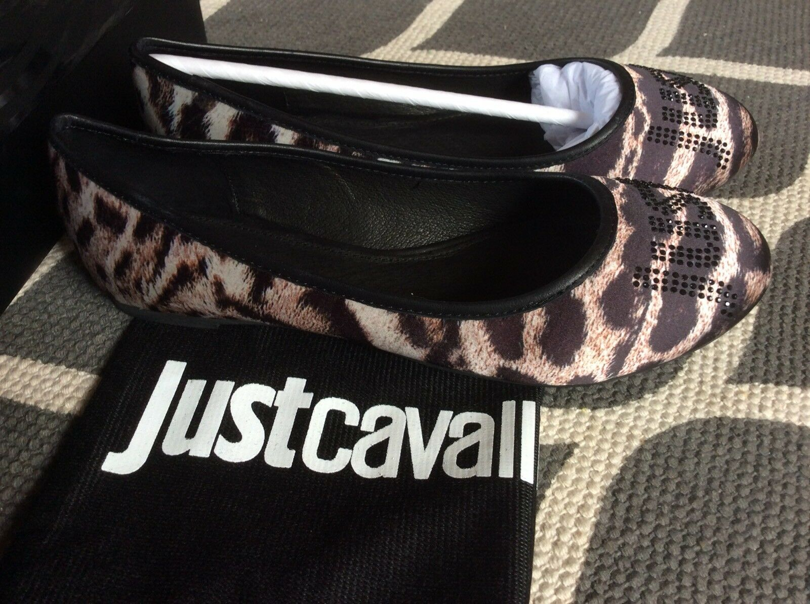 JUST CAVALLI Pumps Ballerinas Damenschuhe NEU(NP ) Gr. 36 Textil,Echtled #239