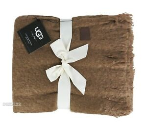 1a9e6cdbad1 Details about UGG Australia Home Luxe Mohair Throw Blanket Chestnut *NEW*