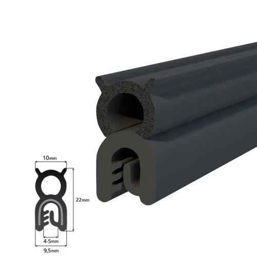 KANTENSCHUTZ 1 Meter Profil UKT-32 Dichtung schwarz EPDM für Fenster Gummi